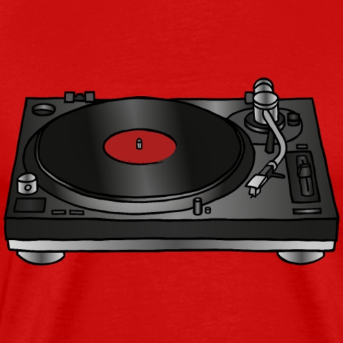 Record player, turntable - Men's Premium T-Shirt