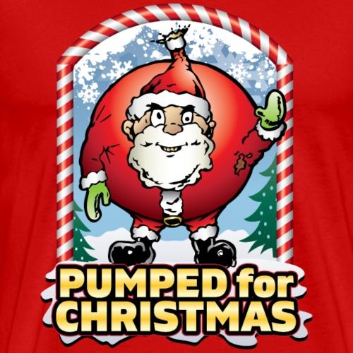Pumped Christmas Santa - Men's Premium T-Shirt