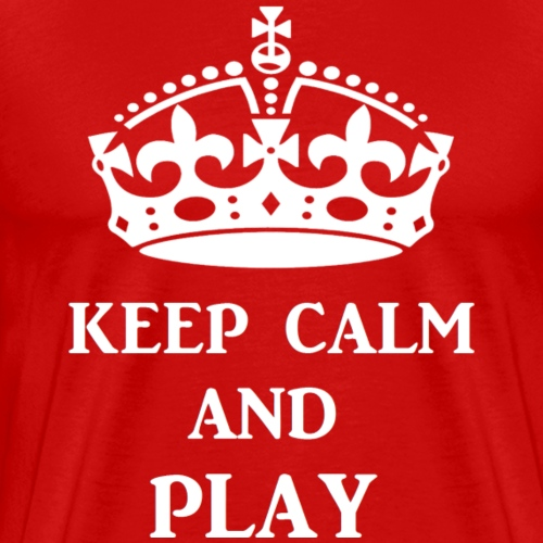keepcalmplaywht - Men's Premium T-Shirt