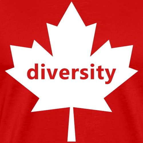 Canada: Diversity - with Maple Leaf - Men's Premium T-Shirt