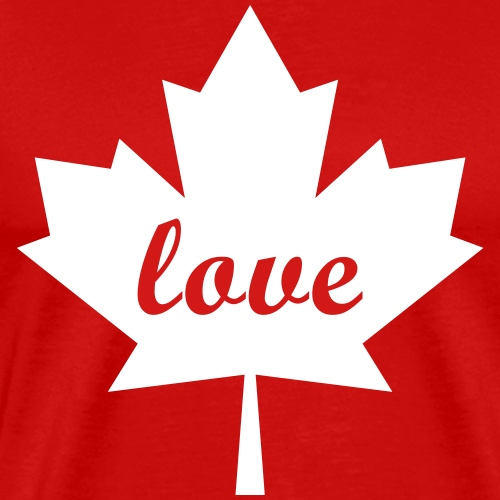 Love Canada with maple leaf - Men's Premium T-Shirt