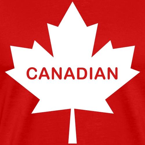 Bold 'Canadian' Maple Leaf - Men's Premium T-Shirt