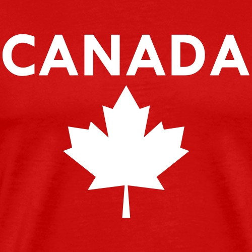 Canada Maple Leaf - Text and filled maple leaf - Men's Premium T-Shirt