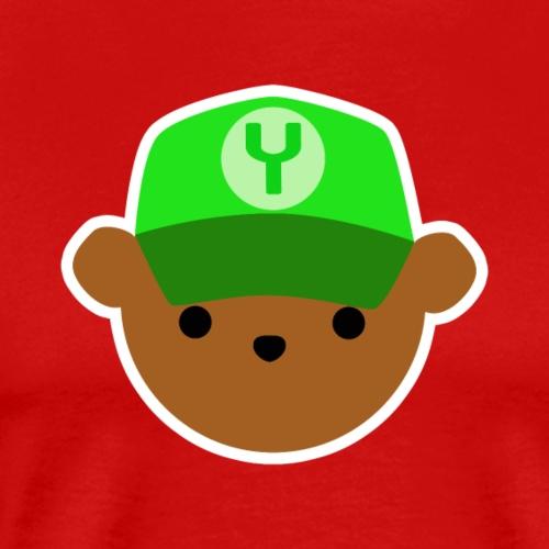 ABC Bear Letter Y - Men's Premium T-Shirt