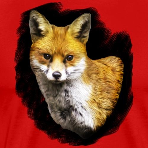 Fox Portrait. - Men's Premium T-Shirt