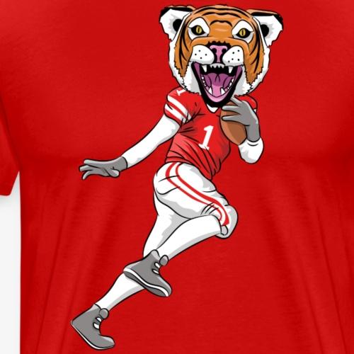 Tiger Mascot Football - Men's Premium T-Shirt