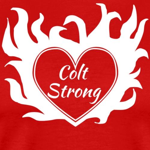 Flaming Heart Colt Strong - Men's Premium T-Shirt