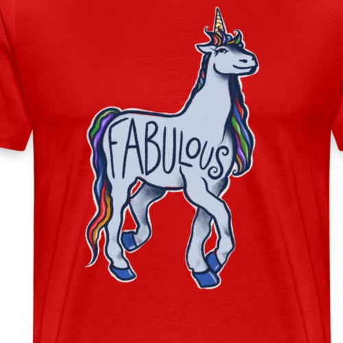 Fabulous Rainbow Unicorn - Men's Premium T-Shirt