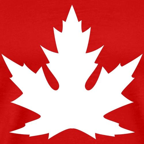 'Silver' Canadian Maple Leaf - Men's Premium T-Shirt