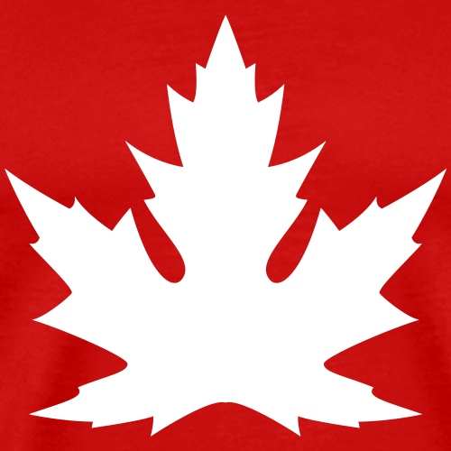 'Silver' Canadian Maple Leaf - Men's Premium T-Shirt