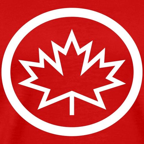 Spiky Canadian Maple Leaf Logo - Men's Premium T-Shirt