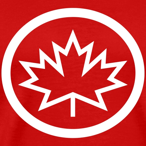 Spiky Canadian Maple Leaf Logo - Men's Premium T-Shirt