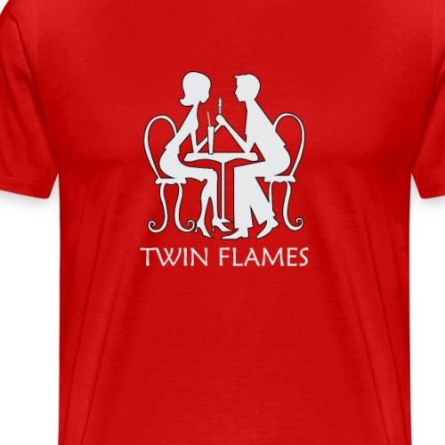 Twin Flames Love Design - Men's Premium T-Shirt