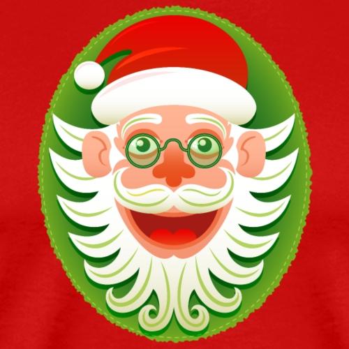Smiling Christmas Santa Claus in Hipster style - Men's Premium T-Shirt