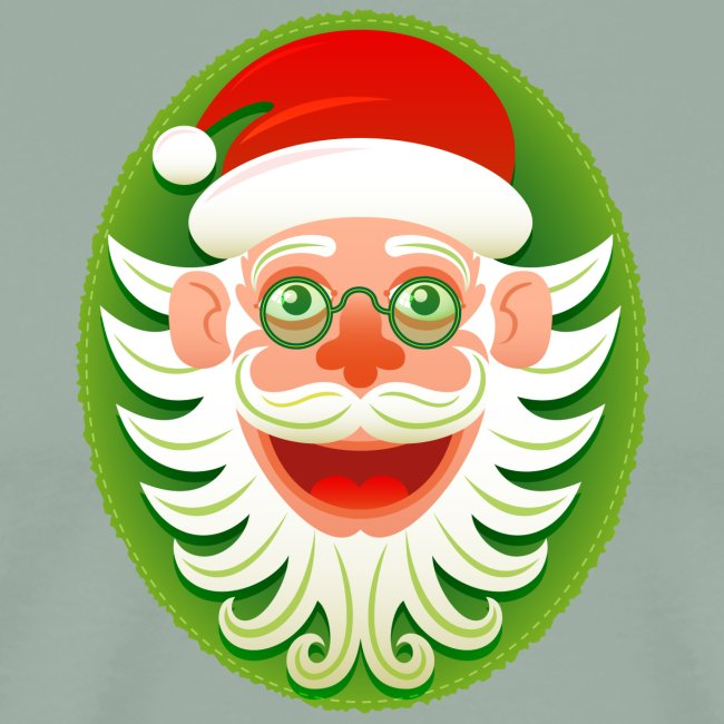 Smiling Christmas Santa Claus in Hipster style
