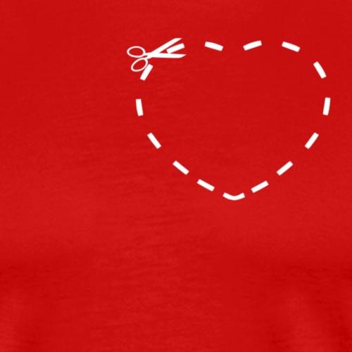 Cut the Hearth - Men's Premium T-Shirt