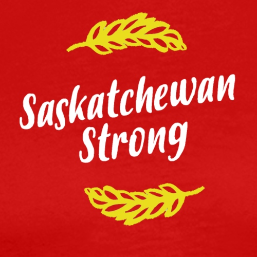 Sask Strong White and Gold - Men's Premium T-Shirt