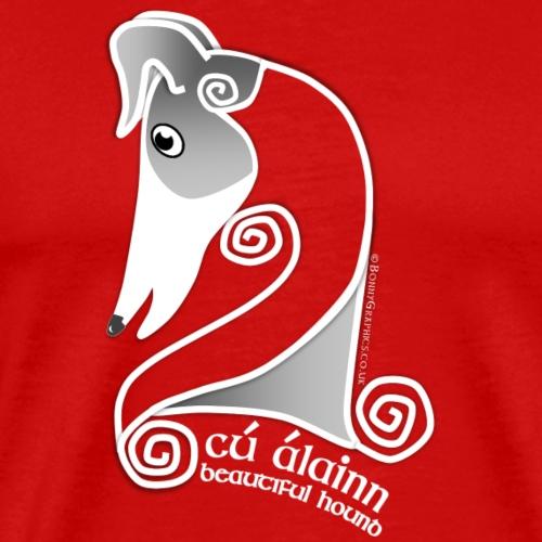 Celtic hound head white - Men's Premium T-Shirt