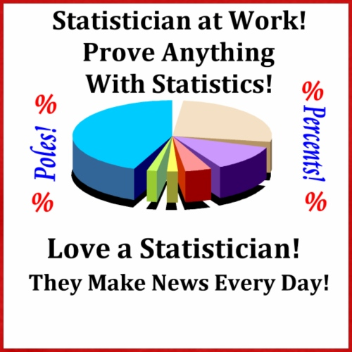 Statistician they make news every day - Men's Premium T-Shirt