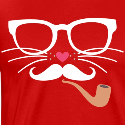 Hipster Cat - Men's Premium T-Shirt