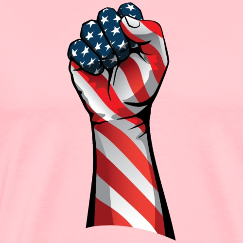 American Pride Raised Fist - Men's Premium T-Shirt