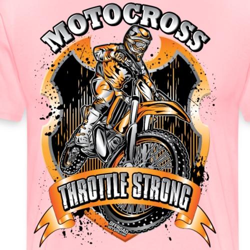 Moto Throttle Strong Org - Men's Premium T-Shirt