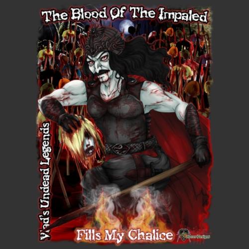 Vlad The Impaler CloseUp W Background - Men's Premium T-Shirt