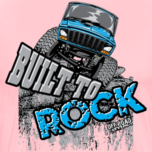 jeep-crawler-rock-built-b - Men's Premium T-Shirt