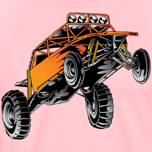 Orange Race Desert Buggy - Men's Premium T-Shirt