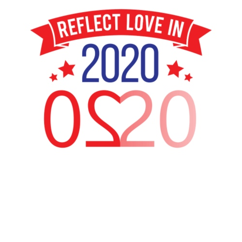 Reflect love in 2020 - Men's Premium T-Shirt