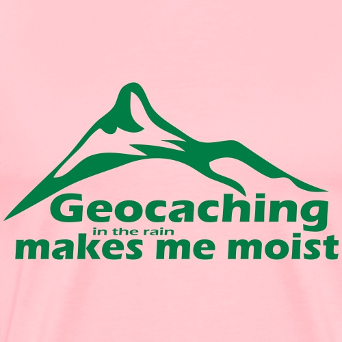 Geocaching in the Rain - Men's Premium T-Shirt
