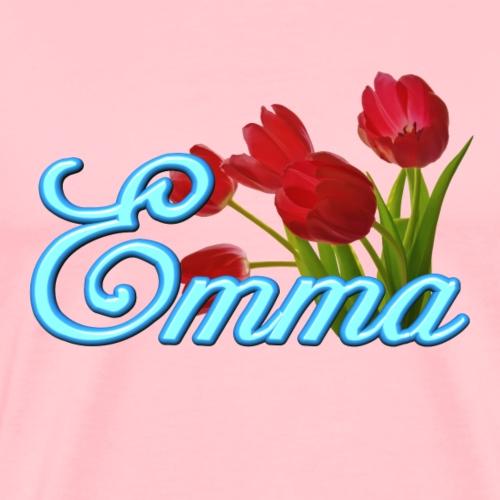Emma With Tulips - Men's Premium T-Shirt
