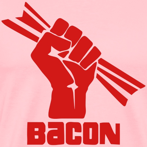 Bacon NOW! Solidarity Fist - Men's Premium T-Shirt