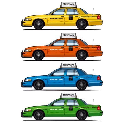 Color Taxi Cabs Crown Vic - Men's Premium T-Shirt