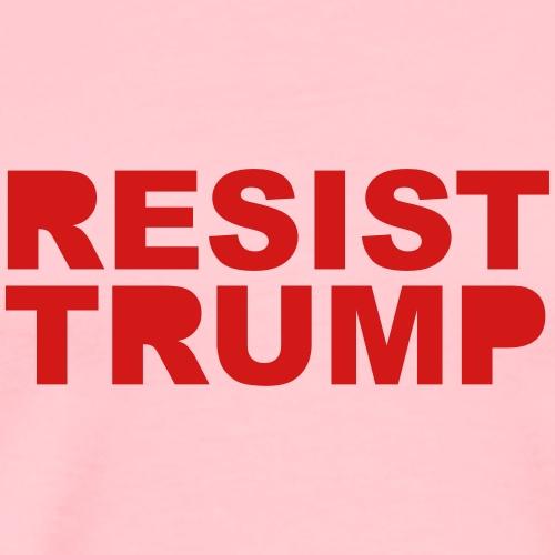 Resist Trump : solid - Men's Premium T-Shirt