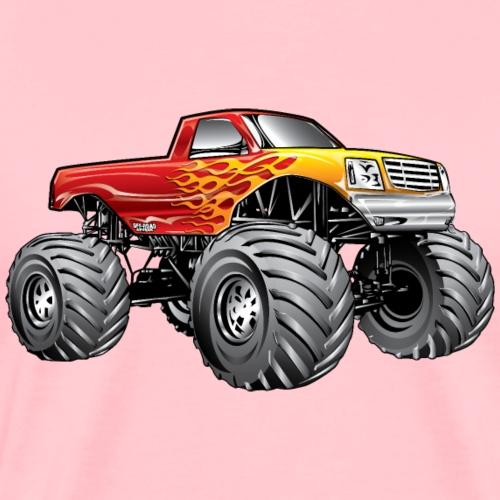 Blazing Hot Monster Truck - Men's Premium T-Shirt