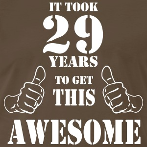 29th Birthday Get Awesome T Shirt Made in 1988 - Men's Premium T-Shirt