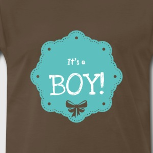 It's A Boy Statement Cute Novelty Clothing Apparel - Men's Premium T-Shirt
