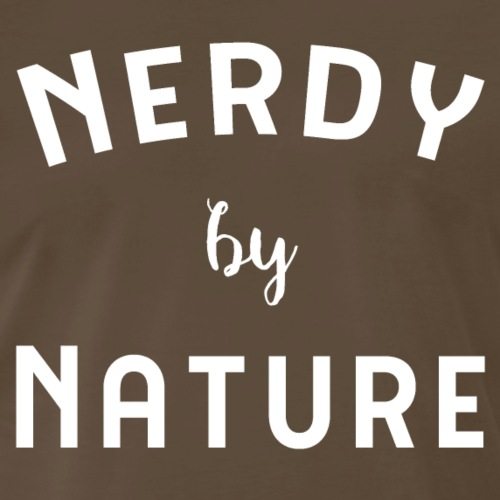 Nerdy by Nature in white - Men's Premium T-Shirt