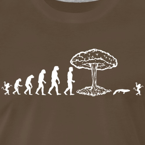 Best Evolution of man parody : nuclear explosion - Men's Premium T-Shirt