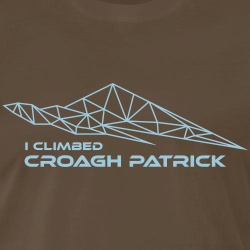 Geometric Design— I climbed Croagh Patrick - Men's Premium T-Shirt