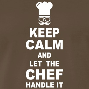 Keep calm and let the chef handle it - Men's Premium T-Shirt