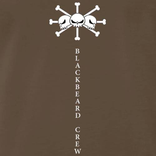 Blackbeard three skulls (with letters) - Men's Premium T-Shirt