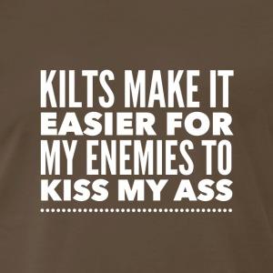 Kilts - Making It Easier to Kiss My Ass - Men's Premium T-Shirt
