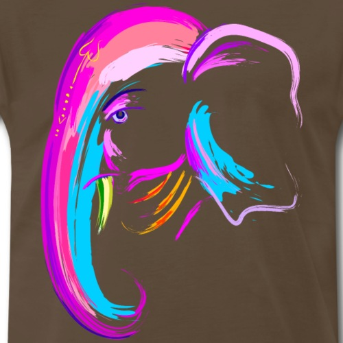 Elephant head watercolor painting animal wildlife - Men's Premium T-Shirt
