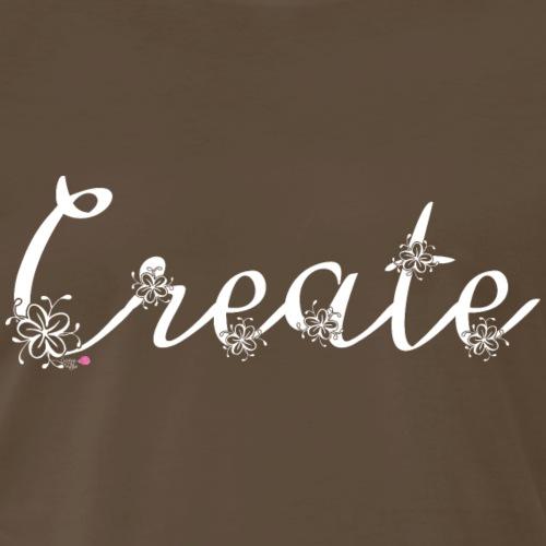 Create Floral - White - Men's Premium T-Shirt