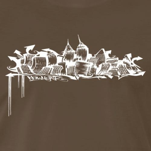 GRAFFITI SKYLINE - Men's Premium T-Shirt