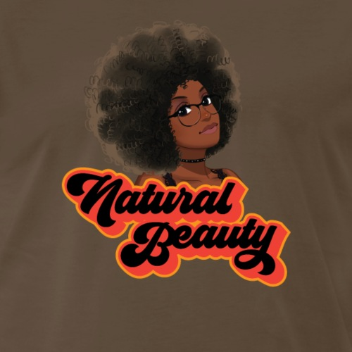 Natural Hair Beauty with Glasses - Men's Premium T-Shirt