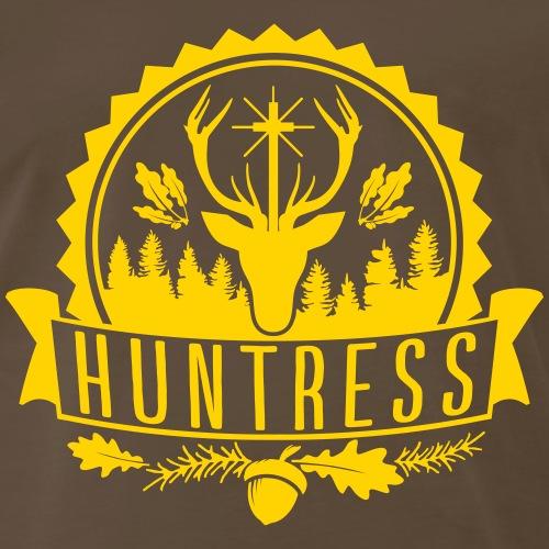 Hunter Huntress Woods Hunting Shooting Wild Chase - Men's Premium T-Shirt