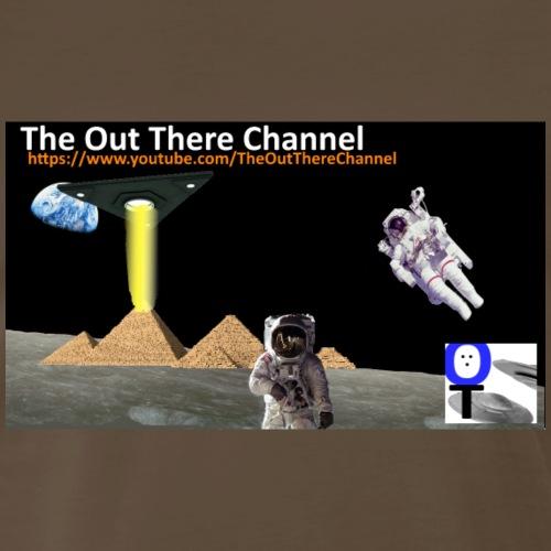 UFO-Pyramids-TheOutThereChannel-TubeLogo2017 - Men's Premium T-Shirt